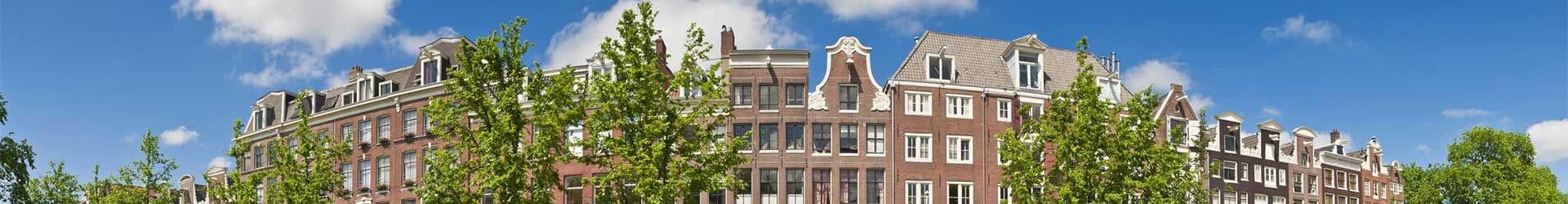 Panorama Amsterdamse huizen